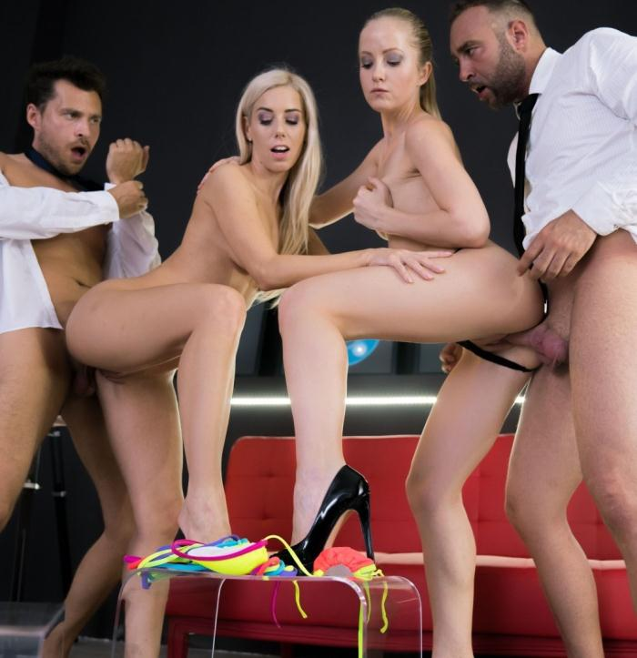 LosConsoladores/PornDoePremium: Sicilia,Nesty - Sweet Hungarian blondie gets consoled in provoking Spanish foursome  [SD 480p]  (Threesome)