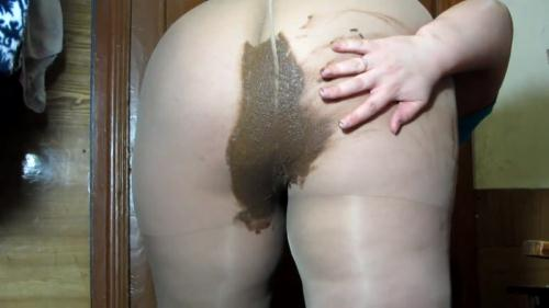 Scat [Fat, Russian girl in stockings §cat and spreads throughout the body - Solo] FullHD, 1080p