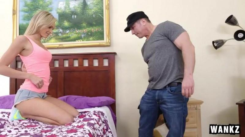 Young Blond Teen Emma Hix Drinks Older Guy's Cum (28.09.2016) [Wankz / SD]