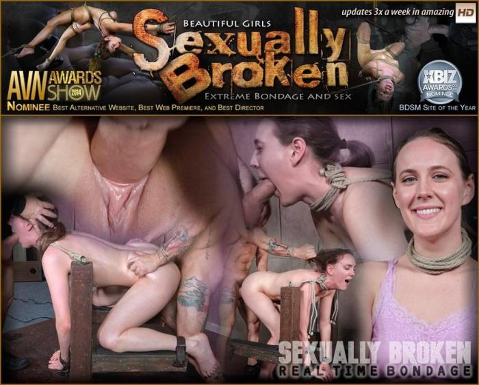 SexuallyBroken.com/RealTimeBondage.com - Cute girl next door, suffers brutal deepthroating and rough fucking, extreme bondage and sex (BDSM, Bondage) [HD, 720p]