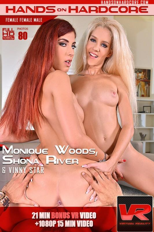 H4nds0nH4rdc0r3: Shona River and Monique Woods - Bent Backwards - Stud Enjoys Two Babes Dong Service (SD/360p/153 MB) 16.09.2016