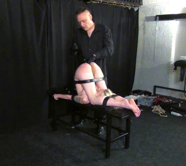 Sadism Bondage	: Amateur - Pain and suffer for helpless slave - Clamps, Bondage Tits (HD/2016)