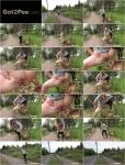 Exclusive Pissing - Amateur - Black Leggings Peeing Jogger [FullHD 1080p]