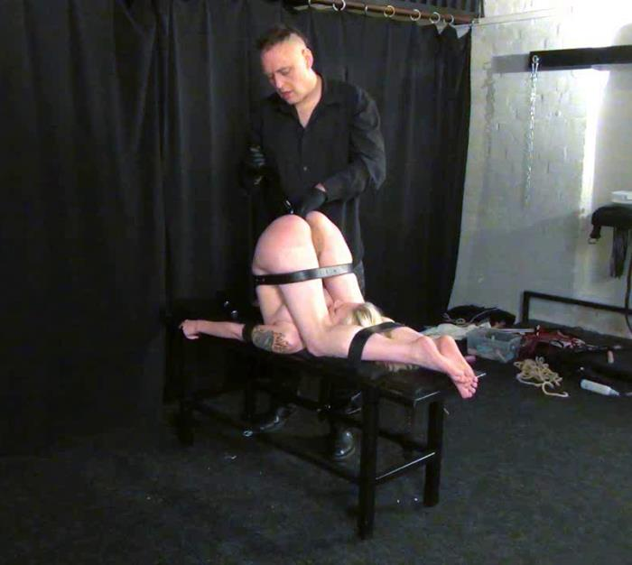 Sadism Bondage	 - Amateur - Pain and suffer for helpless slave - Clamps, Bondage Tits [HD 720p]