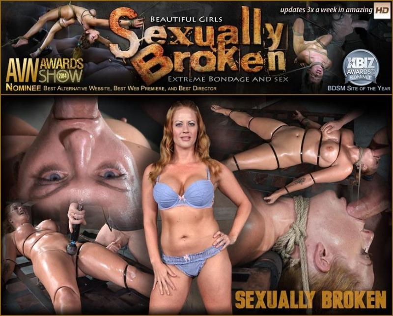 SexuallyBroken.com: Holly Heart, Matt Williams, Sergeant Miles - Holly Heart Strapped to Bed Frame in Vicious Bondage and Brutally Face Fucked! [SD] (111 MB)
