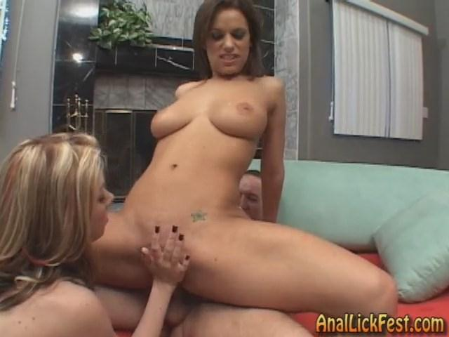 AnalLickFest.com/MeatMembers.com - Mia Bang & Genie - Anal Creampie and Ass Licking (Anilingus) [SD, 480p]