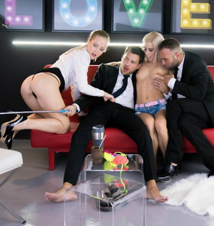 Sicilia,Nesty - Sweet Hungarian blondie gets consoled in provoking Spanish foursome  [HD 720p]