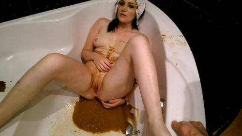 Scat [White Panties - Brown Massacre - Part 3 - Solo - Extreme!] FullHD, 1080p