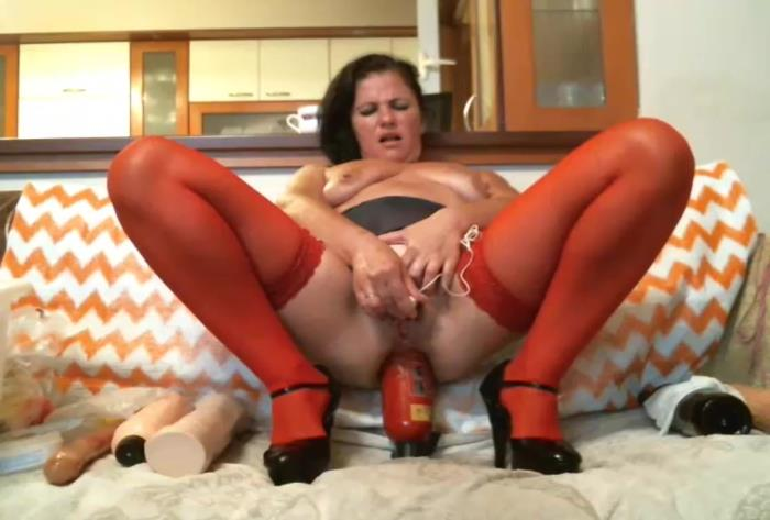 Sicflics.com - Amateur - Anal fire extinguisher fuck [HD 736p]