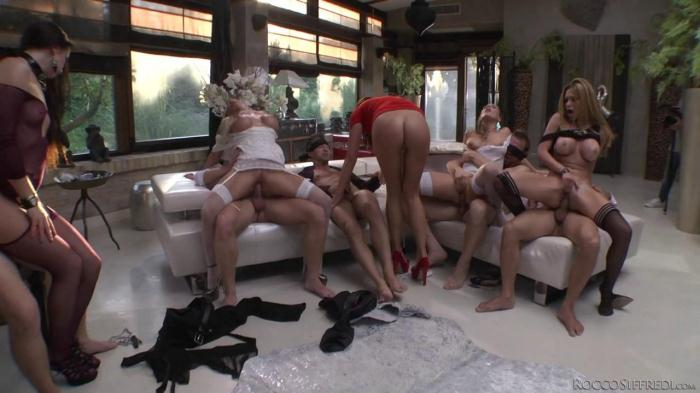 R0cc0S1ffr3d1 - Carolina Abril, Alexa Tomas, Lara De Santis, Kittina, Felicia Kiss, Subil Arch - Blindfolded Orgy! (Group sex) [SD, 400p]