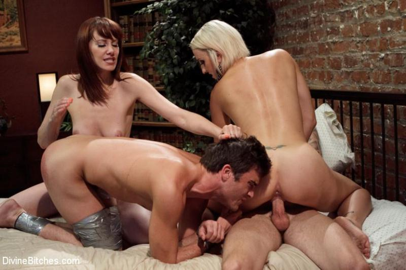Dylan Ryan, Maitresse Madeline, Christian Wilde and Lance Hart - My Wife Needs To Be Fucked While My Prostate Is Milked! [DivineBitches / HD]