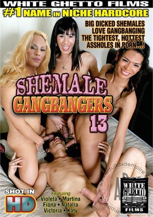 White Ghetto: Katy, Victoria, Natalia, Violeta, Martina, Fiona - Shemale Gangbangers 13 [SD 404p]