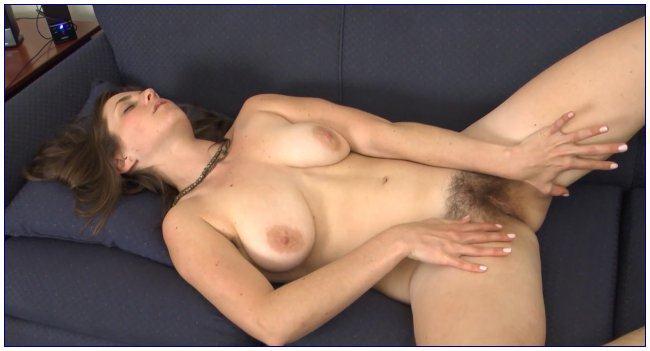 W34r3H41ry.com - Tanya - Blue Scarf (Hairy Pussy) [HD, 720p]