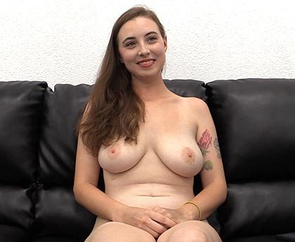 B4ckr00mC4st1ngC0uch - Katie - Threesome Sex on Casting [SD, 432p]