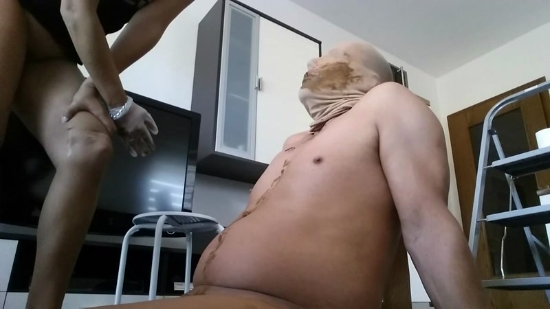 Top Model shit in a human hole and abused him - Femdom (SCAT / 21 Sep 2016) [FullHD]