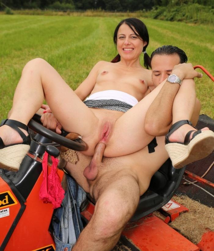 Sisley Haim - A small-titted brunette French amateur slut is banged outdoors  [HD 720p]