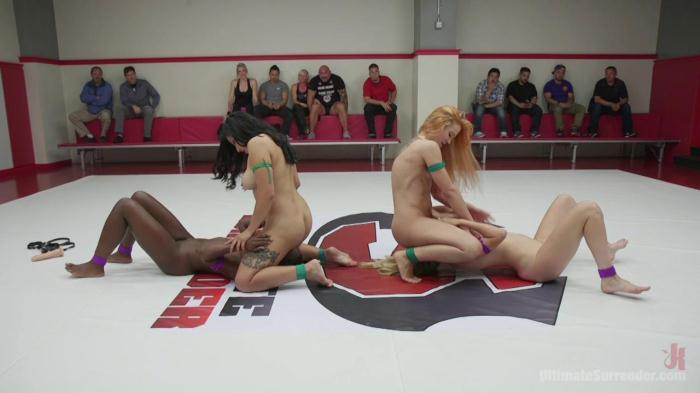 Ult1m4t3Surr3nd3r.com - Orgasm on the Mat Destroys one Teams chances of winning - Cheyenne Jewel, Ana Foxxx, Adley Rose, Mona Wales (StrapOn) [HD, 720p]