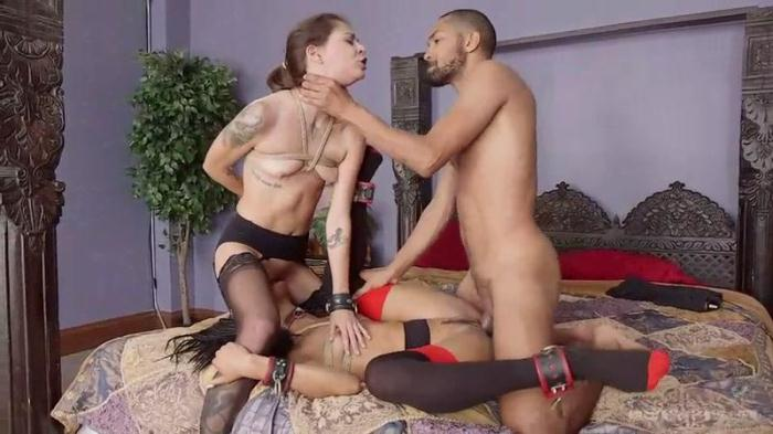 Th3Upp3rFl00r.com - Nikki Darling, Kacie Castle, Mickey Mod - Initiation Of The Insatiable Kacie Castle (BDSM) [SD, 540p]