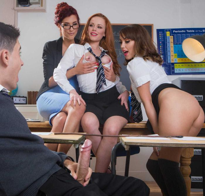 Ella Hughes, Shona River, Zoe Doll - Lets Welcome The New Student  [HD 720p]