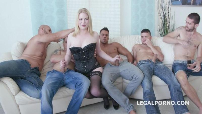 PAWG 5on1 Adry Berty welcome in PORN with DP /DAP /TP and 5 swallow GIO244 (Gangbang with Russian Teen) [LegalPorno / SD]