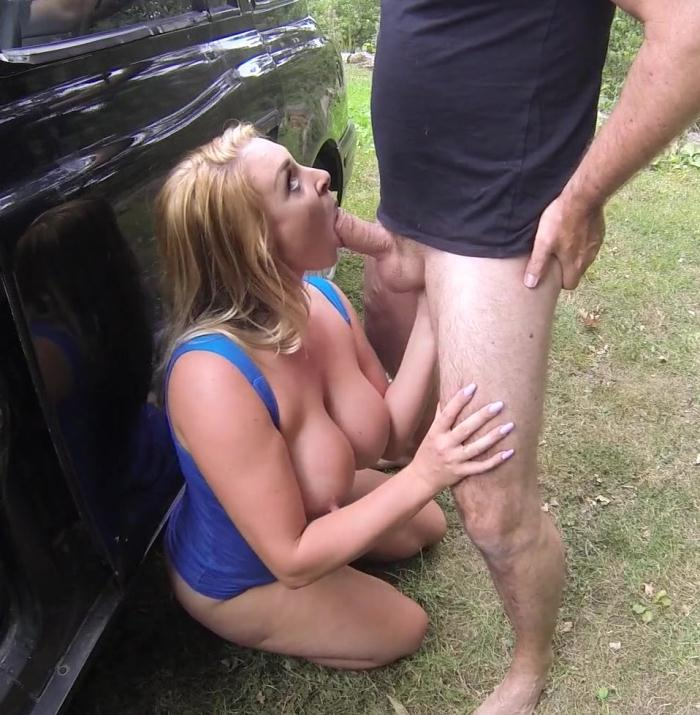 FakeTaxi - Victoria  - Hot Blonde on Taxi Cab Bonnet  [HD 720p]
