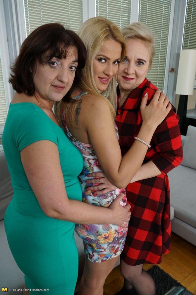 Old-and-young-lesbians: Alma (40), Sheena (18), Melana (41) - Three times more fun (HD/2016)