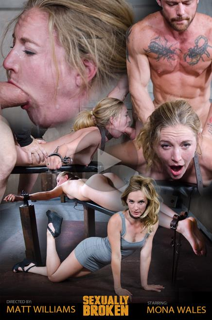SexuallyBroken: Mona Wales, Matt Williams, Sergeant Miles - Sexy Pale and Slim Mona Wales Gets Pounded By Two Cocks in Fighter Jet Position! (HD/2016)