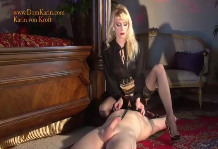 Mistress Karin Von Kroft - On the Leash 1-2 [DomKarin / SD]