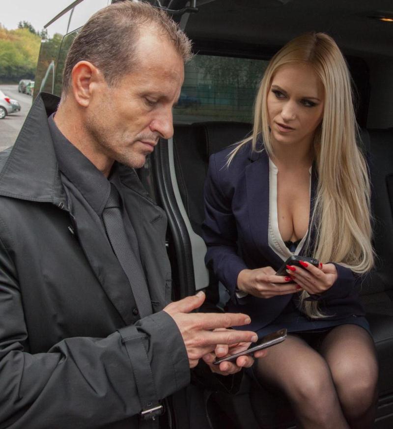 FuckedInTraffic/PornDoePremium - Rossella Visconti - George Uhl fucking blonde babe Rossella Visconti on the backseat [SD 480p]