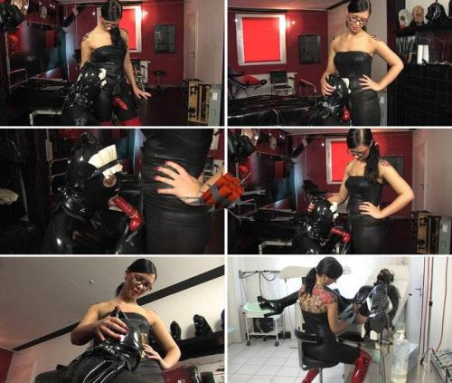 Amateur - Anal training for my rubber maid P.#1 - Femdom, Strapon Sucking (Extreme Stimulation) [FullHD 1080p]