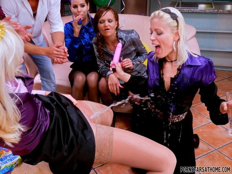 Piss And Booze Birthday Showers - Part 2 (Eliss Fire, Ferrera Gomez, Sweet Cat, Bella Morgan) [T41nst3r / HD]