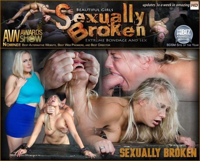 SexuallyBroken.com - Angel Allwood Bent Over and Roughly Fucked In Belt Bondage! (BDSM) [HD, 720p]