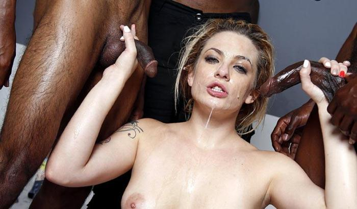 InterracialBlowbang.com - Dahlia Sky - Blowbang (Group sex) [SD, 432p]