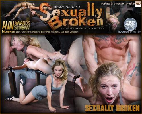 SexuallyBroken.com [Mona Wales, Matt Williams, Sergeant Miles - Sexy Pale and Slim Mona Wales Gets Pounded By Two Cocks in Fighter Jet Position!] SD, 540p