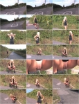 Exclusive Pissing: Blonde - Outdoor pee (HD/2016)