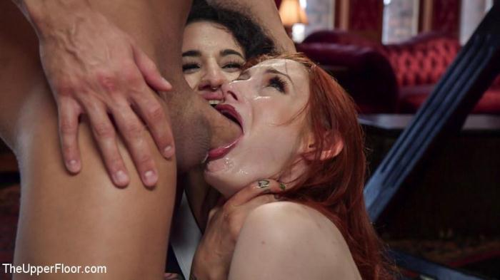Th3Upp3rFl00r.com - Arabelle Raphael Gets Sweet Revenge on Rich Bitch Violet Monroe (BDSM) [HD, 720p]