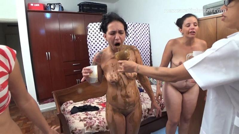 Shit in A Blender - Extreme Shitting with Vomit - Lezdom! [Scat In Brazil / FullHD]