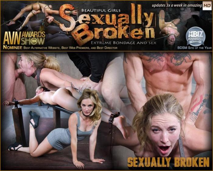 SexuallyBroken.com - Sexy Pale and Slim Mona Wales Gets Pounded By Two Cocks in Fighter Jet Position! (BDSM) [HD, 720p]
