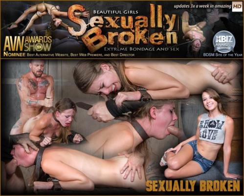 SexuallyBroken.com [To cute for porn Zoey Lane is destroyed by massive hard pounding cock in bondage] HD, 720p