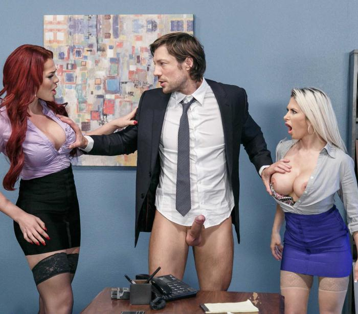 BigTitsAtWork/BraZZers: Rachel RoXXX, Skyla Novea - Hungry For A Job  [HD 720p]
