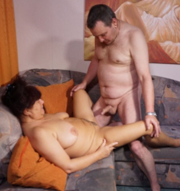 Karin - Chubby German granny gets cum covered after dick ride in first time porn  [SD 480p]