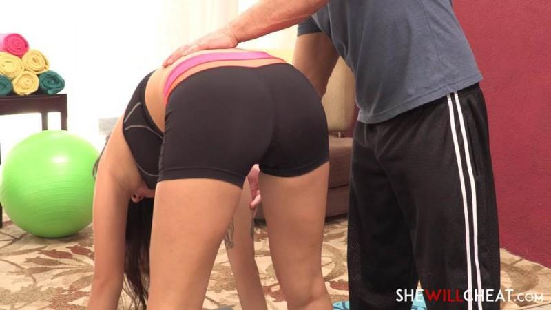 SheWillSheat.com: Hotwife Karlee Grey gets stretched out by the personal trainer [SD] (457 MB)