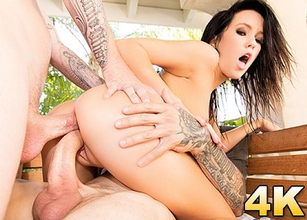 Megan Rain Naughty Teen Dp'd (22.09.2016) [JulesJordan / SD]