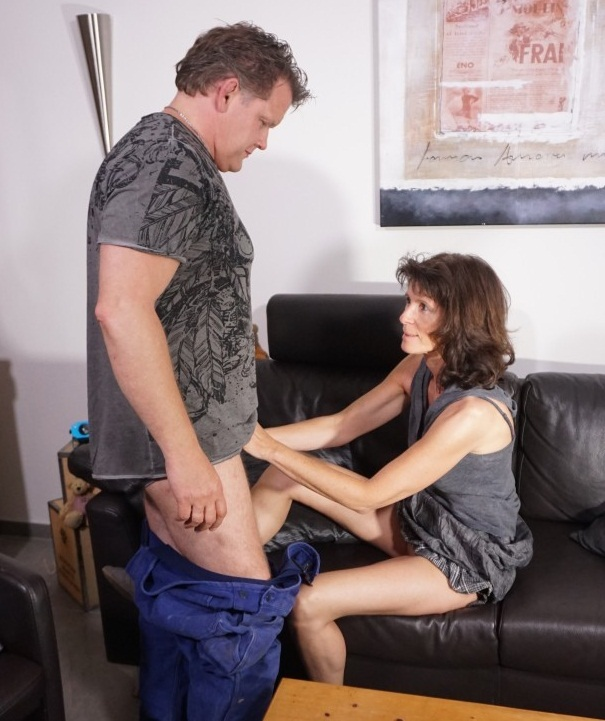 Julia S. - A brunette cheating wife is pounded hard during German reality porn video  [SD 480p]