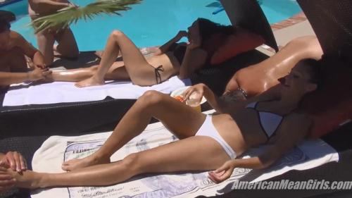 Princess Beverly, Princess Сarmela, Princess Bella - Mean Girl Pool Party [HD, 720p] [CLIPS4SALE.COM] - Femdom