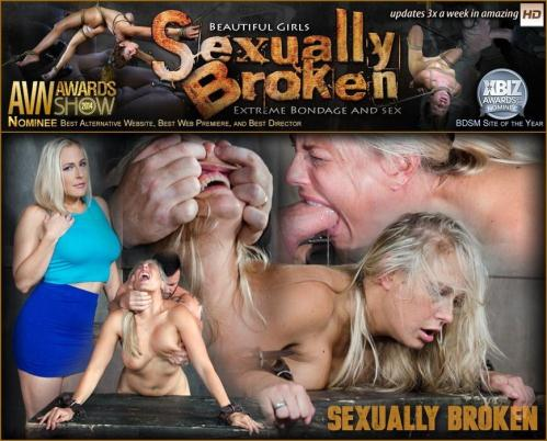 SexuallyBroken.com [Angel Allwood Bent Over and Roughly Fucked In Belt Bondage!] HD, 720p