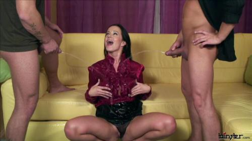[Cindy Dollar - Double Teamed Piss Whore] HD, 720p