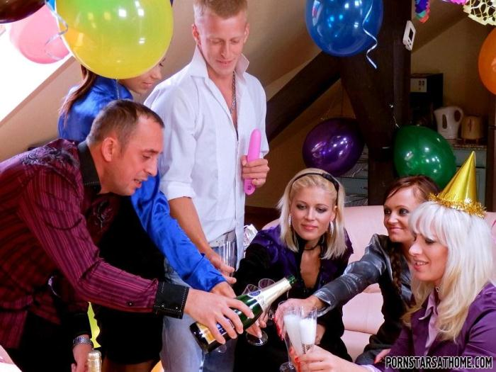 T41nst3r.com - Piss And Booze Birthday Showers - Part 1 (Pissing, Group sex) [HD, 720p]