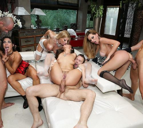 Hunter Leone, Ners Zen, Anael Angeli , Begasus , Kittina, Alexa Tomas, Carolina Abril, Lara de Santis, Mea Melone - Porn Camp: Blindfolded Orgy (Rocco Porn) [SD 544p]