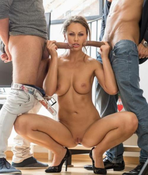B1tch3s4br04d.com - Tina Kay - Hot travelling European babe gets DP in hardcore threesome (Anal) [HD, 720p]
